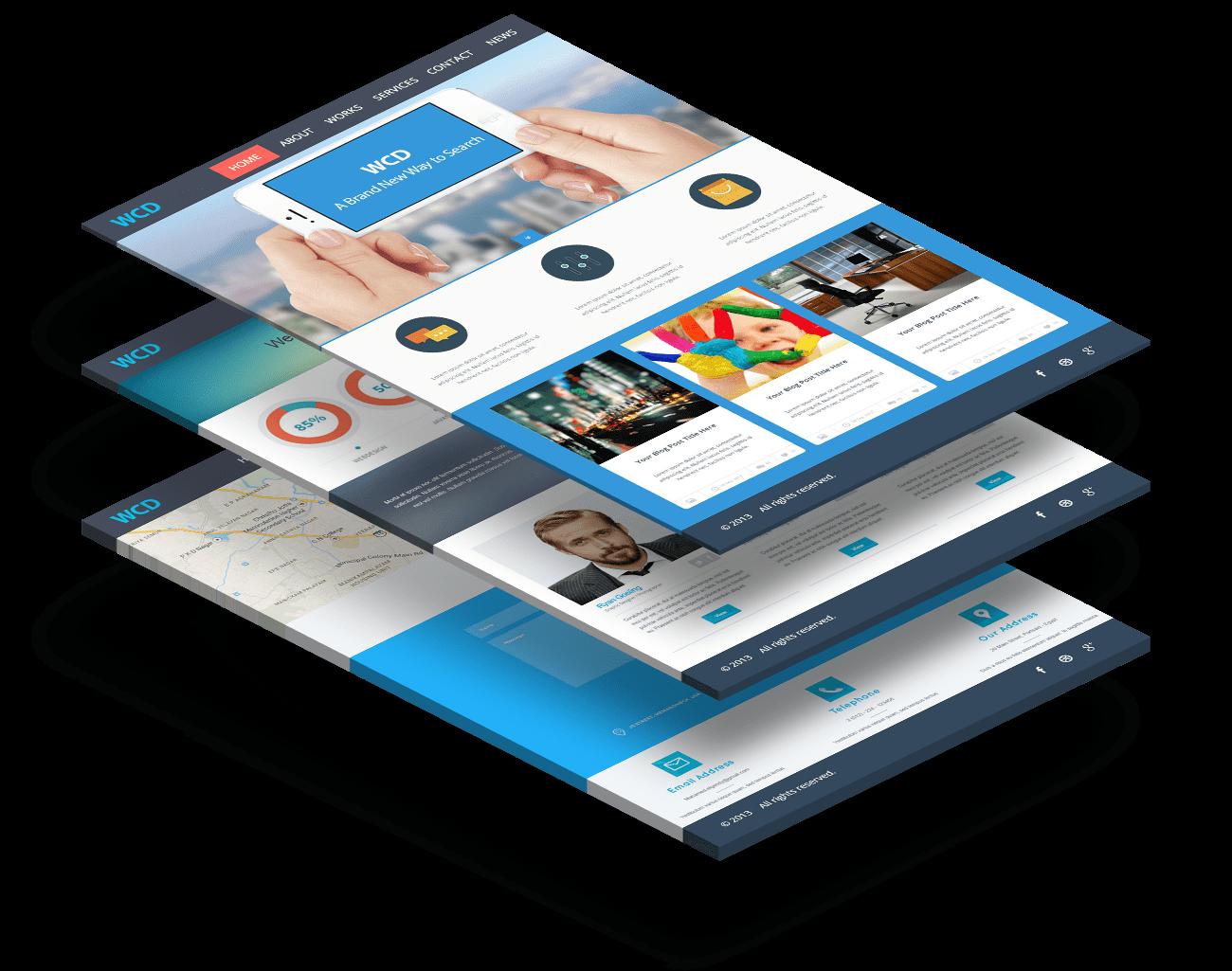 Bravico website responsive design